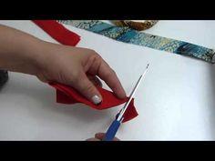 Tutorial fácil diademas forrada y decoradas en tela. Vinchas forrada en tela - YouTube