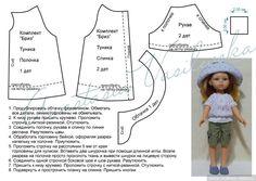 Комплект с выкройкой для Паола Рейна. Панамка и блуза / Выкройки одежды для кукол-детей, мастер классы / Бэйбики. Куклы фото. Одежда для кукол