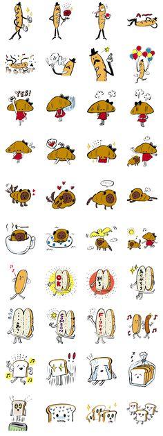 Stickers Bakery Kawaii