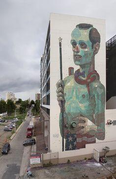 """No flags"" // ARYZ 2012 // Santurce, Puerto Rico #steetart #aryz #building"