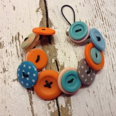 Orange and Teal button £7.50