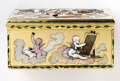 Putti as allegories of sculpture and painting, side of a snuffbox, Claude de Villers, 1747-48, Paris, museum no. Loan:Gilbert.411-2008 | The Rosalinde and Arthur Gilbert Collection on loan to the Victoria and Albert Museum, London