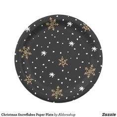 Shop Christmas Snowflakes Paper Plate created by Aldorashop. Paper Snowflakes, Christmas Snowflakes, Holiday Cards, Christmas Cards, Christmas Paper Plates, Party Tableware, White Elephant Gifts, Biodegradable Products, Party Supplies