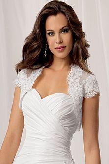 Short Cap Sleeve Lace Appliques Bridal Wedding by YourWeddingMall, $58.00