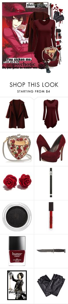 """Madame Red"" by steady-smile ❤ liked on Polyvore featuring WithChic, Dolce&Gabbana, Michael Antonio, Clarins, women's clothing, women, female, woman, misses and juniors"