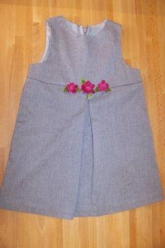 Kelly's Kids Gray Flowered Girls Dress  sz 3T