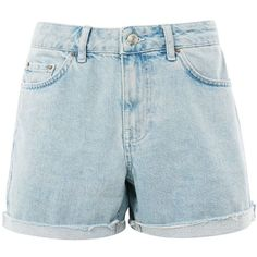 Topshop Moto Bleach Boyfriend Shorts ($38) ❤ liked on Polyvore featuring shorts, topshop, bleach stone, cut-off shorts, bleached shorts, ripped shorts, destroyed boyfriend shorts and torn shorts