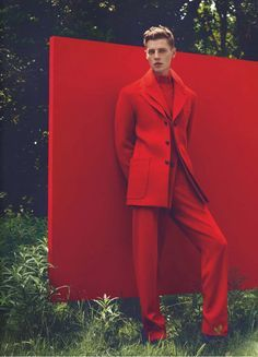 Photoshoot Ideas For Men, Man Photoshoot Ideas, Backdrop Ideas, Red, Fall Colors, Fashion Photoshoot Ideas, Men Editorial, Male Models, Men Photoshoot Ideas