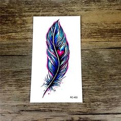 Colorful Butterfly Fox Feather Body Art Sexy Harajuku Waterproof Temporary Tattoo For Man Woman Henna Fake Flash Tattoo Stickers Feather Tattoo Foot, Feather Tattoo Design, Feather Drawing, Foot Tattoos For Women, Tattoos For Guys, Tattoo For Man, Body Art Tattoos, Print Tattoos, Son Tattoos