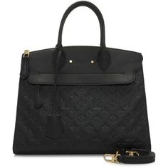 Pre-owned Louis Vuitton Monogram Empreinte Pont-Neuf GM (7.363.070 COP) ❤ liked on Polyvore featuring bags, black, monogrammed bags, hardware bag, preowned bags, pre owned bags and louis vuitton