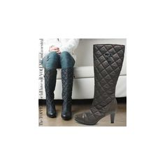 Quilted Heel Boots