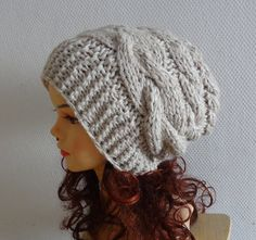 women slouchy  beanie hat  Slouch Beanie  Large hat  by Ifonka, $32.00