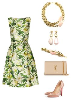 """""""Ladies Who Lunch"""" by manictrout ❤ liked on Polyvore featuring Oscar de la Renta, Christian Louboutin and Yves Saint Laurent"""