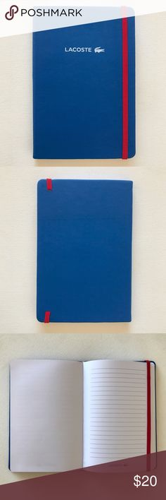 Limited Edition Lacoste Moleskine-style Notebook Limited edition. Brand new, never used. Wide ruled with a striking red page-keeper. High quality matte finish cover with a classy Lacoste logo. 100% authentic from the brand. Lacoste Other