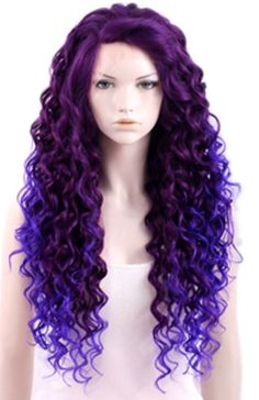 Beautiful Purple Full Lace Front Wig 26 28 Inches - Hair Extensions   RebelsMarket