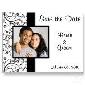Black and white save the date postcards - #wedding #weddings #black