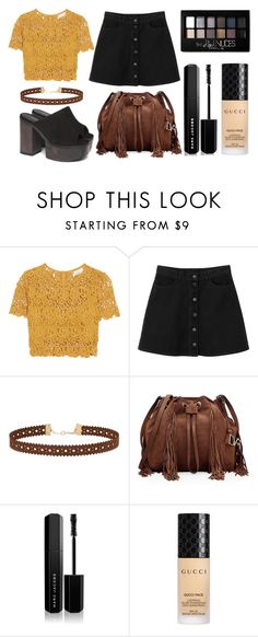 """Sexy (Summer!)"" by lululafitte on Polyvore featuring moda, Miguelina, Monki, Miss Selfridge, Diane Von Furstenberg, Marc Jacobs, Gucci y Maybelline"