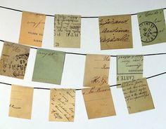 vintage postcard flags