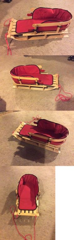 Sleds and Snow Tubes 59892: Ll Bean Classic Wood Snow Sled, Toboggan With Original Cushion.. Excellent -> BUY IT NOW ONLY: $97 on eBay!