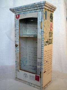 cabinet covered in correspondence from the 1920's