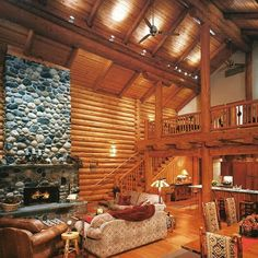 Serene Lake log home constructed by Swiss Mountain Log Homes of Sisters Oregon.