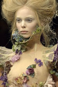 Tanya Dziahileva at Alexander McQueen <3