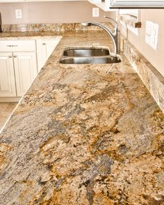 Yellow River Granite Tile Combination | Yellow River Granite & Bathrooms - traditional - kitchen - dc metro ...