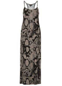 Topshop snakeprint maxi dress, £29