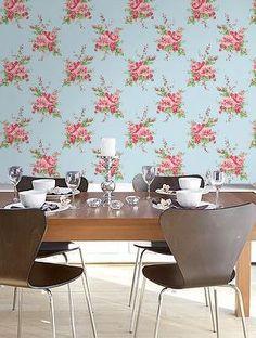 estampa zelda papel de parede na sala de jantar