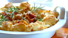 Chicken and Bacon Gougere recipe Winner Winner Chicken Dinner, Bacon Recipes, Light Recipes, Quick Meals, Soul Food, Food To Make, Dinner Recipes, Food And Drink, Yummy Food