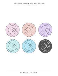 Brand Design for Eva Adams Collateral Design, Brand Identity Design, Brand Design, Stickers Design, Logo Stickers, Logo Design Tips, Thank You Card Design, Web Design Packages, Business Card Design