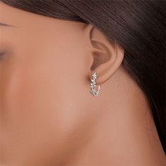 Oorringen Magische Tuin - Gebladerte Royal - wit goud en diamanten - 18 karaat : Edenly juweel