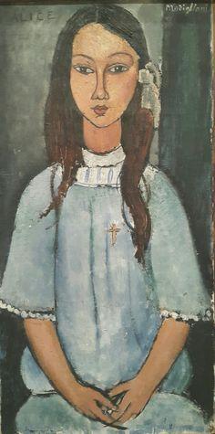 Alice.  Amadeo Modigliani.  Galería Nacional de Dinamarca