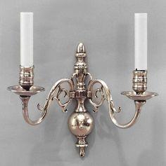 English Georgian lighting sconces brass