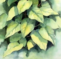 NIce Lesson.....Ann's Watercolour Studio: Negative painting and a 3D effect demonstration