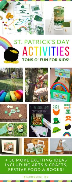 Fun St Patricks Day Activities For Kids | The best Leprechaun Traps, Tricks and Treasure Hunts, plus ideas for crafts, festive food and snacks, and St Paddy's books. For the full list visit www.whatmomslove.com