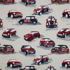 Moto Fabric by Prestigious Textiles Fabric Blinds, Curtains With Blinds, Curtain Fabric, Car Bedroom, Bedroom Ideas, Bedroom Inspiration, Kids Bedroom, Prestigious Textiles, Quirky Decor