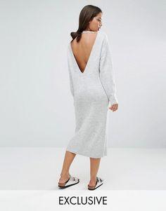 Micha Lounge | Micha Lounge Panel Back Sweater Dress