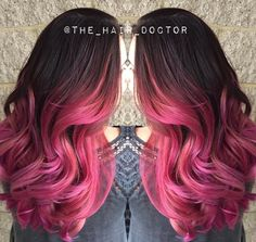 Gina Bianca rose ombre finish. http://www.modernsalon.com/how-to/hair-color/formula-rose-ombre