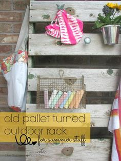 Outdoor Pallet Rack From Pallet: Great smashing plan out of pallet for immediate wants setting out of recycled pallet is shape of pallet ra...