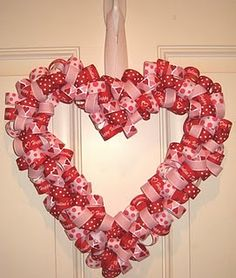 Valentines - this would be so cute. This blog has a ton of good wreath and holiday decorating ideas!
