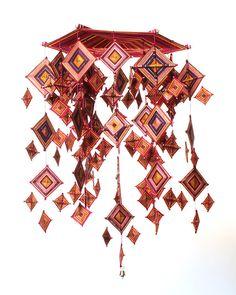 Poppytalk: New Site + Things String Crafts, String Art, Mandala Pattern, Mandala Art, Gods Eye, Do It Yourself Crafts, Weaving Art, My New Room, Fabric Art