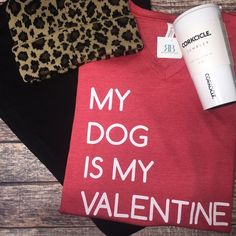 My dog is deff my Valentine 🙋🏼🐶 $25 Comment below with PayPal to purchase and ship or comment for 24 hour hold #repurposeboutique#shoprepurpose#carthage#boutiquelove#style#trendy#musthaves#obsessed#fashion#sweaterready#winterready#winterlove#shopwinter