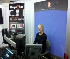 ShapeShot Photobooth at RAPID 2012 - 3D Data Capture / 3D Data Imaging - ShapeShot is a 3D Face Scanner that allows users to create 3D models of their face for 3D printing and other uses