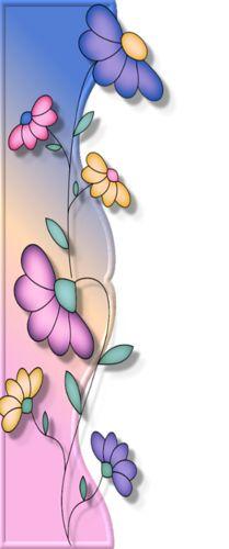 Borde flores.jen✿