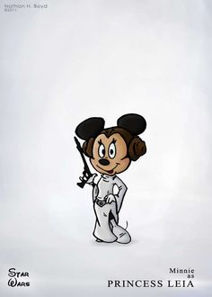 Star Wars Mickey and friends cross over