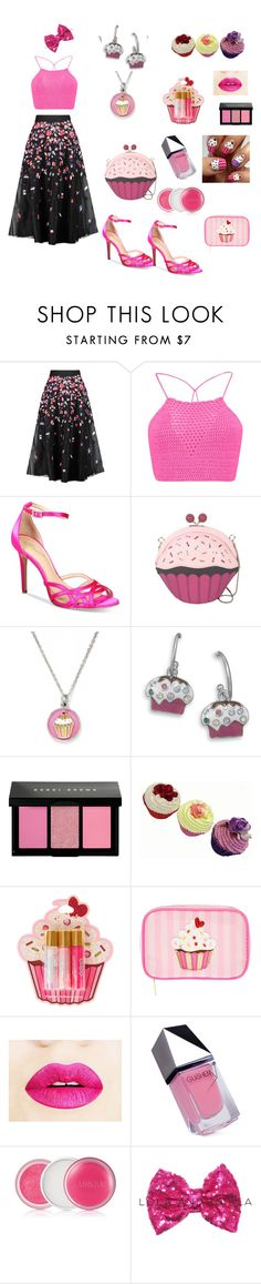 Cupcake Fantasy Fun Outfit by siriusfunbysheila1954 on Polyvore featuring Boohoo, NOIR Sachin + Babi, Badgley Mischka, Kate Spade, Chrysalis, Bobbi Brown Cosmetics, claire's, Clinique and GUiSHEM