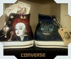 Alice in Wonderland - These Custom Made, Hand Painted Sneakers Are A Geek's Dream
