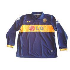 9f5f525b7  NIKE BOCA JUNIORS 2010 HOME LONG SLEEVE PLAYERS VERSION JERSEY --- Boca  Juniors 2010 season players version home long sleeve shirt in