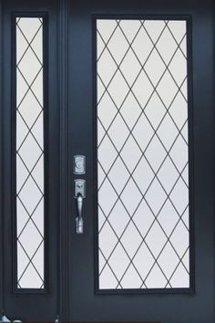 For Sliding Glass Door (A Temporary Solution Until French Door Installation?): Orleans Leaded Glass Privacy Window Film